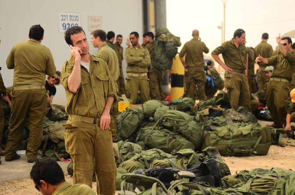 Caption: IDF reserve soldiers in staging areas around the Gaza Strip in November 2012. Credit: Israel Defense Forces.