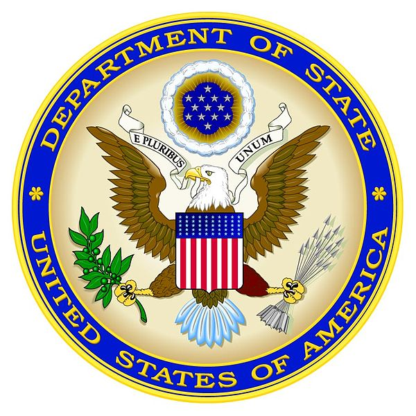 U.S. State Department (logo pictured) spokesperson Jen Psaki said the U.S. will work with the new Palestinian unity government. Credit: U.S. State Department