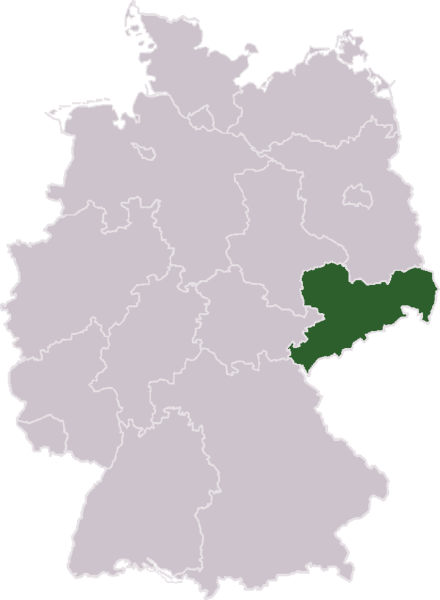 A Jewish family, whose chain of stores in Saxony, Germany (pictured on map) was seized by the Nazis, will get millions in compensation from the German government. Credit: Wikimedia Commons.