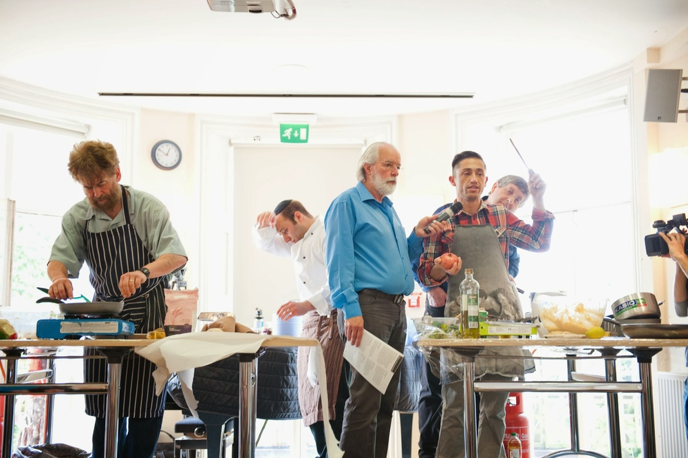 Click photo to download. Caption: The  Ashkenazi versus Sephardi cook-off at the 2013 Gefiltefest in London. Credit: Patrick Dodd.