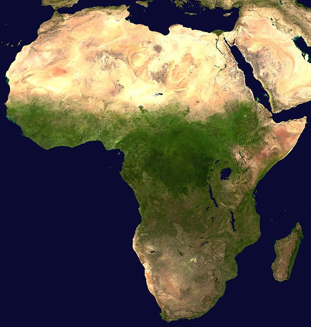 The Israeli government want to invest in Africa (pictured on map) to diversify its economy and counter the Boycott, Divestment and Sanctions (BDS) movement, which has let to businesses around the world boycotting the Jewish state. Credit: Wikimedia Commons.