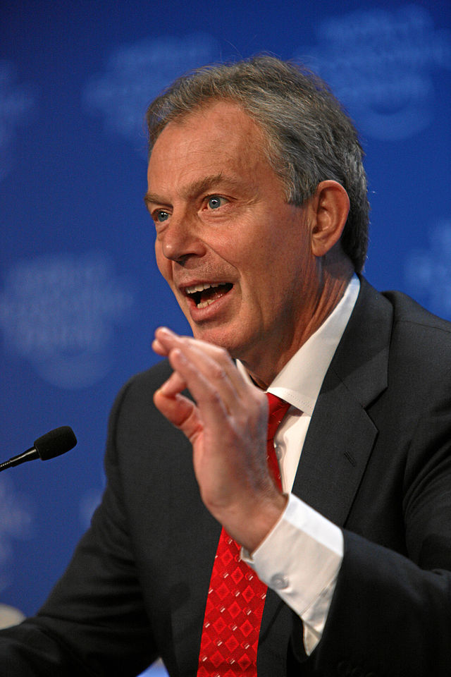 Middle East Quartet representative and former UK Prime Minister Tony Blair. Credit: Wikimedia Commons.