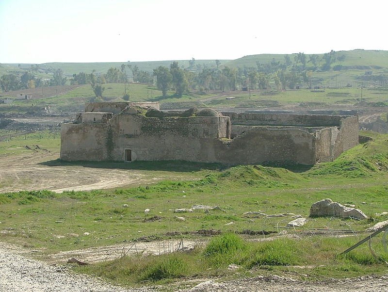 Click photo to download. Caption: The abandoned Saint Elijah's Monastery—the oldest Christian monastery in Iraq—located in the Nineveh Province, just south of the city of Mosul. Credit: Doug via Wikimedia Commons.