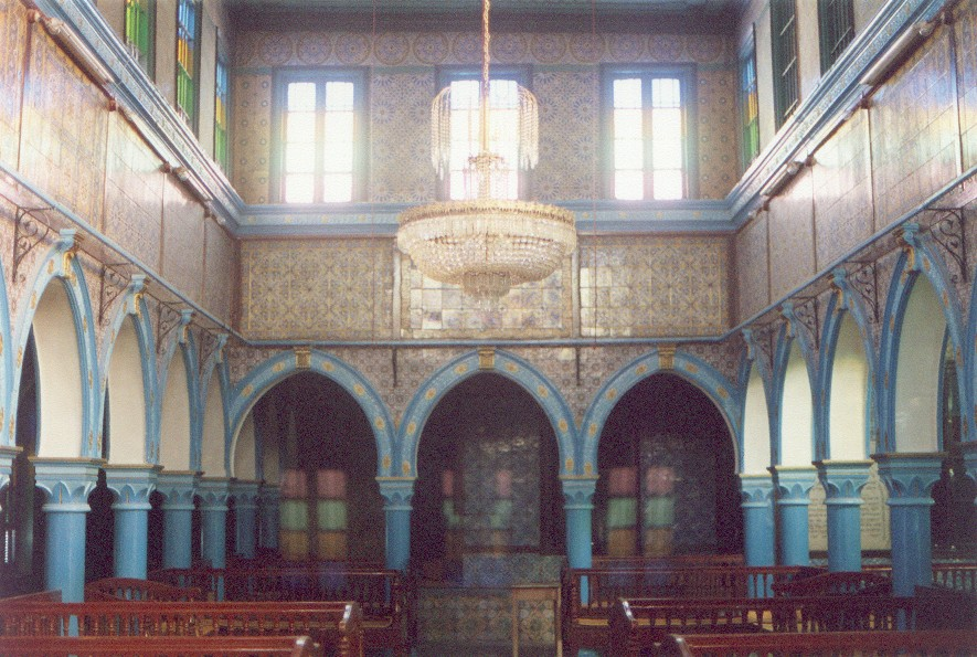 The ancient  El Ghriba Synagogue in Djerba. Credit: Wikimedia Commons.