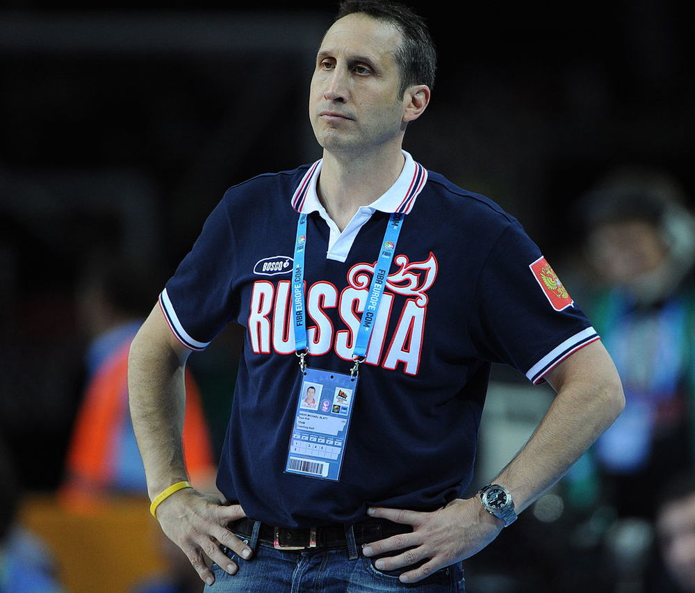 Click photo to download. Former Maccabi Tel Aviv coach David Blatt has accepted a head coaching job with the NBA's Cleveland Cavaliers. Credit: Christopher Johnson via Wikimedia Commons.