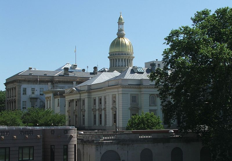 Click photo to download. Caption: The New Jersey State House in the city of Trenton. New Jersey is considered the U.S. state that has probably had the greatest success in mandated Holocaust education. Credit: Marion Touvel via Wikimedia Commons.