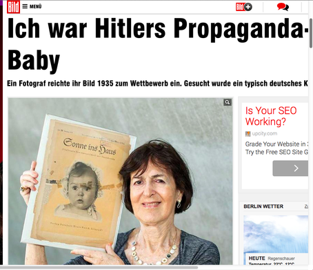 Germany's Bild newspaper interviewed Hessy Taft, the Jewish woman whose baby photo was chosen as the perfect Aryan baby for Nazi propaganda materials.