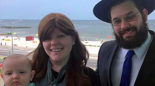 Pictured are Rabbi Akiva and Hannah Hall, and their daughter Leah, a family that will serve the Jewish community of southern Mississippi for the Chabad-Lubavitch movement. Credit: Chabad.org.