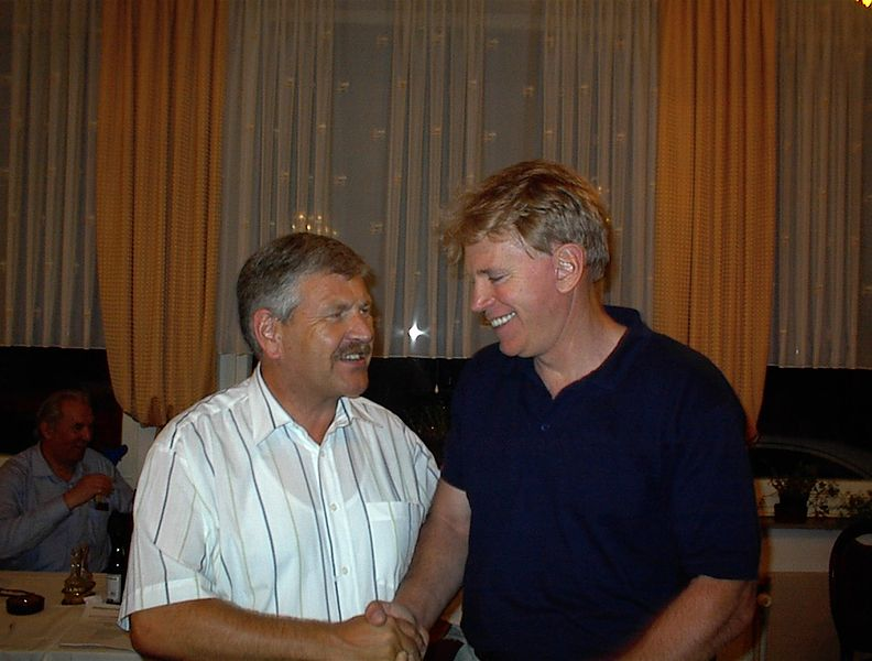Former NPD leader Udo Voigt (left) with former Ku-Klux-Klan member David Duke in 2002. Voigt has been given a seat in the European Parliament's Civil Liberties, Justice and Home Affairs Committee. Credit: Wikimedia Commons.