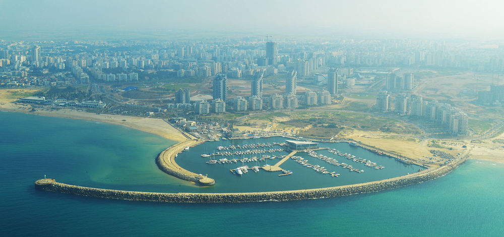 The skyline of Ashdod. Credit: Meronim via Wikimedia Commons.