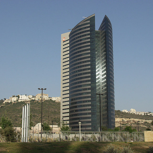Israel Electric Corporation headquarters in Haifa. Credit: Sambach via Wikimedia Commons.