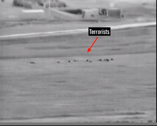 Screenshot of the video released by the Israel Defense Forces (IDF) showing the thwarting of terrorists trying to infiltrate Israel. Credit YouTube screenshot.