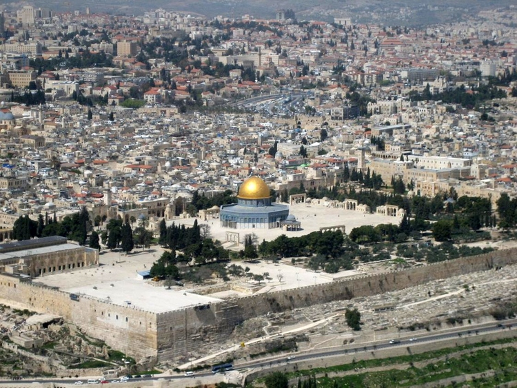A view of the Temple Mount in Jerusalem. Credit: Berthold Werner.