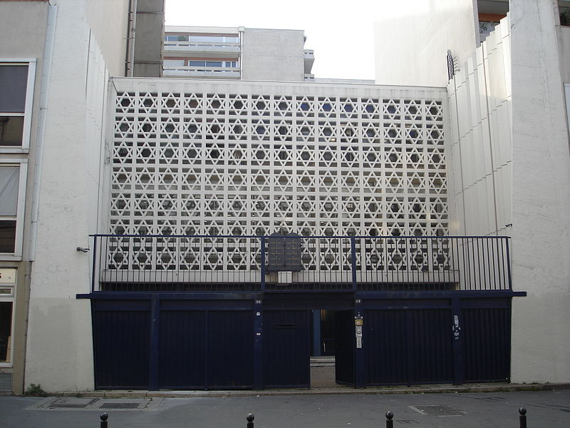 Click photo to download. Caption: The Don Isaac Abravanel synagogue in central Paris, which was recently attacked by pro-Palestinian demonstrators. Credit: Wikimedia Commons.