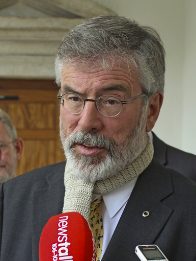 "Gerry Adams (pictured), the leader of Ireland's nationalist Sinn Fein party, called on Irish legislators to ""stand in solidarity"" with the Palestinians during a session of parliament. Credit: Wikimedia Commons."