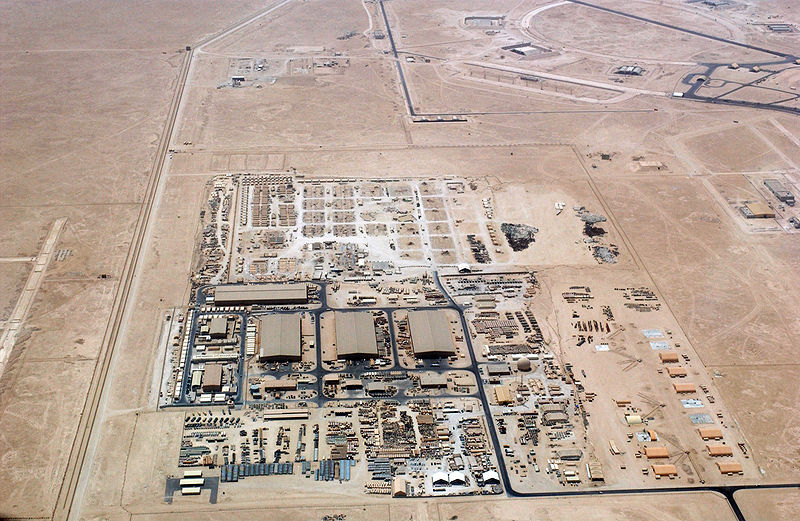 Click photo to download. Caption: The U.S. has the Al-Udeid Air Base (pictured) in Qatar, but at the same time, Qatar funds the U.S.-designated terrorist organization Hamas. Credit: Magnus Manske via Wikimedia Commons.