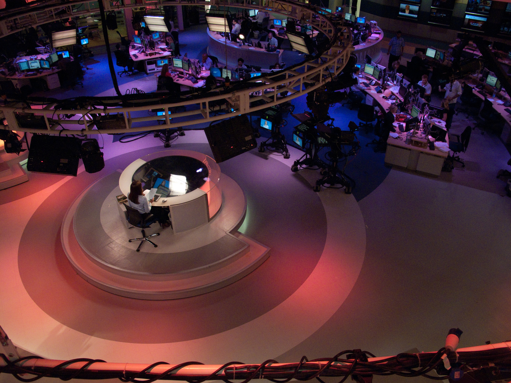 "Click photo to download. Caption: The Al Jazeera broadcast center in Doha, Qatar. ""Qatar's vocal foreign policy developed with Al Jazeera. Qatar had a point of view and, after 1995 and the launch of Al Jazeera, began increasingly and gradually to express it,"" says Joseph LeBaron, the former U.S. Ambassador to Qatar. Credit: Paul Keller via Wikimedia Commons."