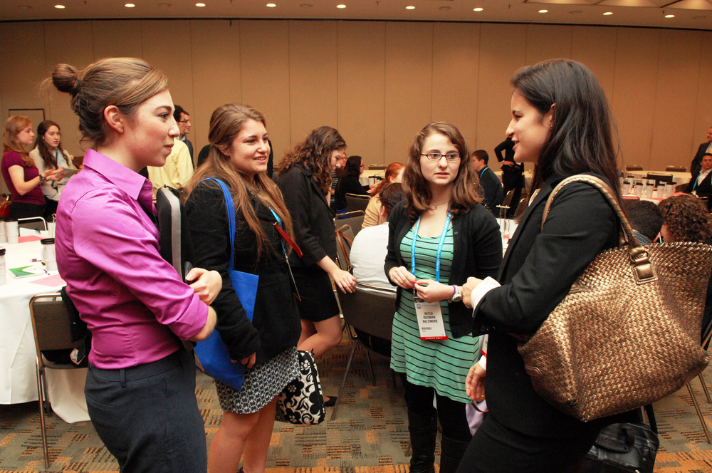 Click photo to download. Caption: A job fair organized by the Jewish Federations of North America in 2013. Credit: Bob Cumins.