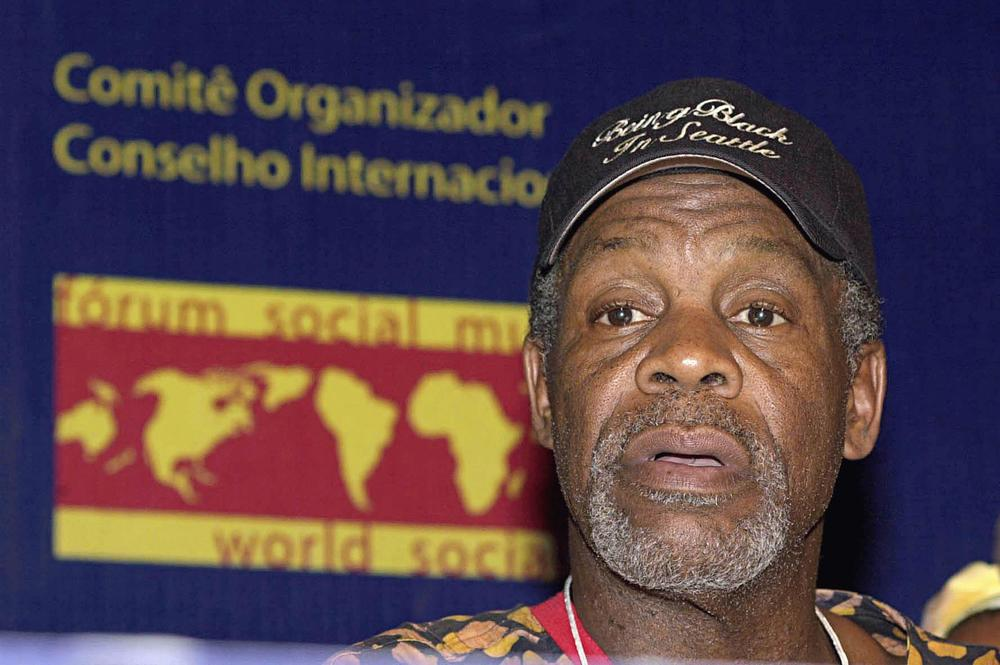 Click photo to download. Caption: Danny Glover at the World Social Forum in 2003. Credit: Marcello Casal Jr./ABr via Wikimedia Commons.