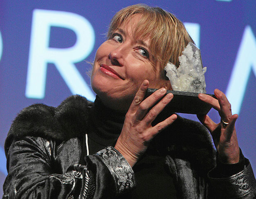 Click photo to download. Caption: Emma Thompson. Credit: World Economic Forum.