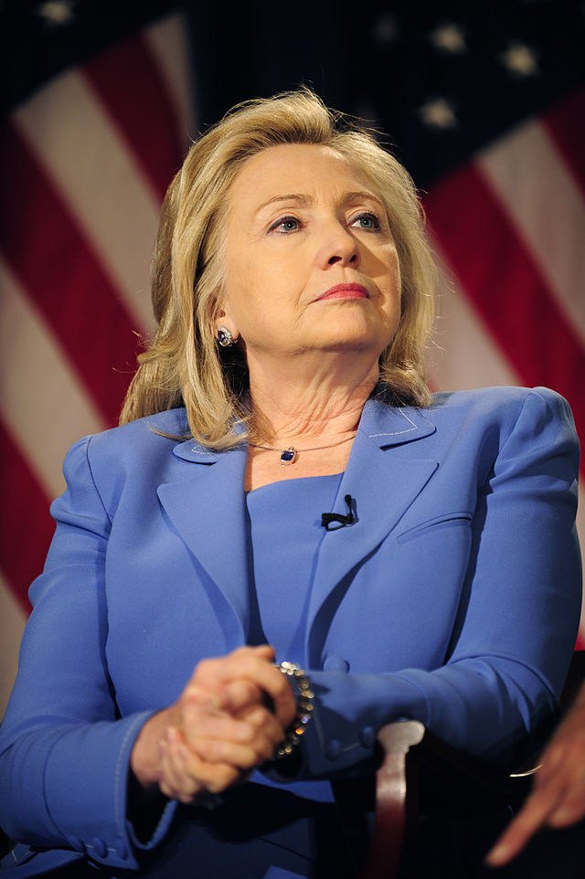 Former U.S. Secretary of State Hillary Clinton. Credit: Wikimedia Commons