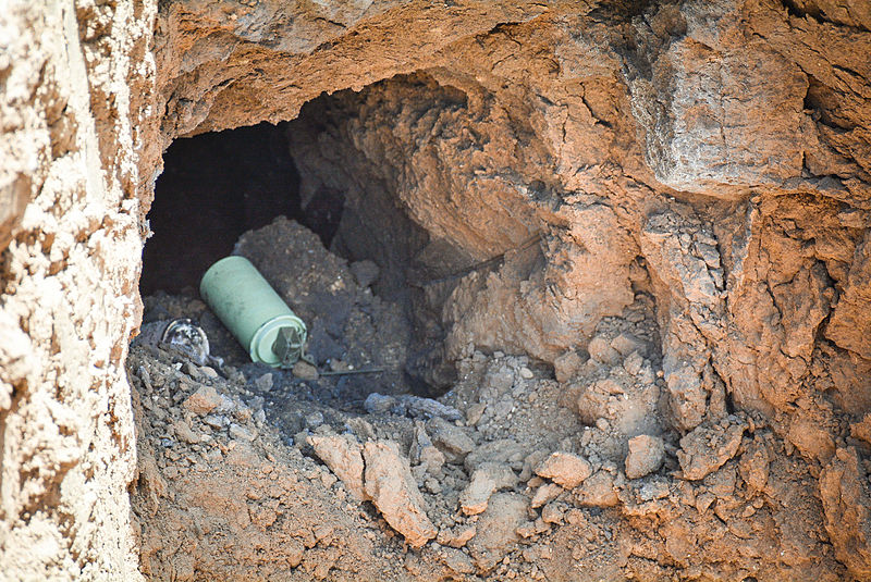 Israel is developing a sensor system to detect tunnels dug by Hamas terrorists into Israel from Gaza. Credit: IDF via Wikimedia Commons.