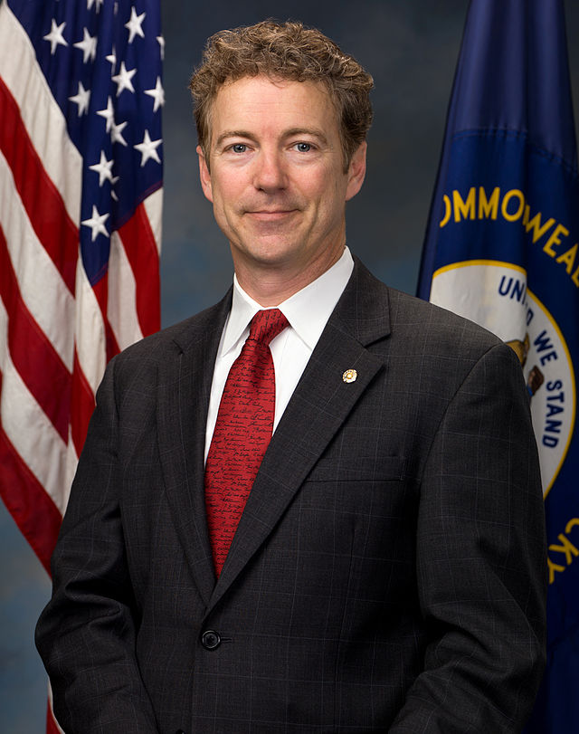 Click photo to download. Caption: Sen. Rand Paul (R-KY). Credit: Wikimedia Commons.