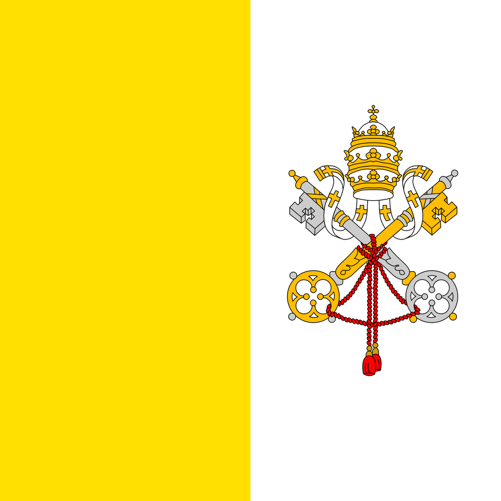 The flag of the Vatican City. Credit: Wikimedia Commons.