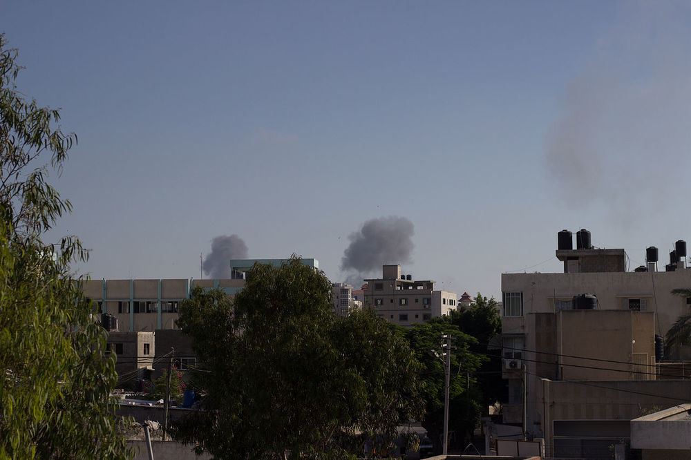 Some Gaza residents are criticizing Hamas actions that have led to IDF strikes on the Gaza strip (pictured) in operation Protective Edge. Credit: Basel Yazouri via Wikimedia Commons.