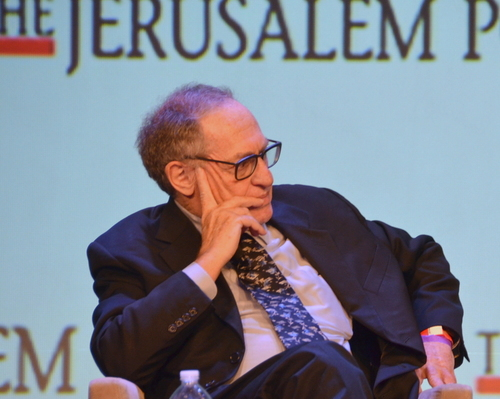 Click photo to download. Caption: Alan Dershowitz. Credit: Maxine Dovere.
