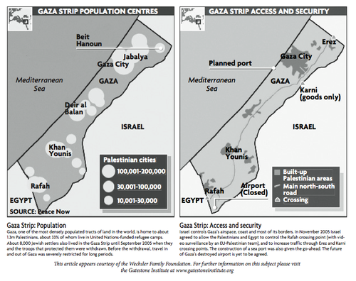 Click photo to download. Caption: Maps of Gaza's population and access/security conditions on an advertisement rejected by The Guardian.