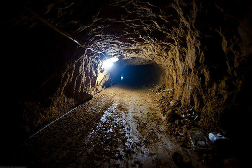 A smuggling tunnel is Gaza. Credit: Marius Arnesen via Wikimedia Commons.