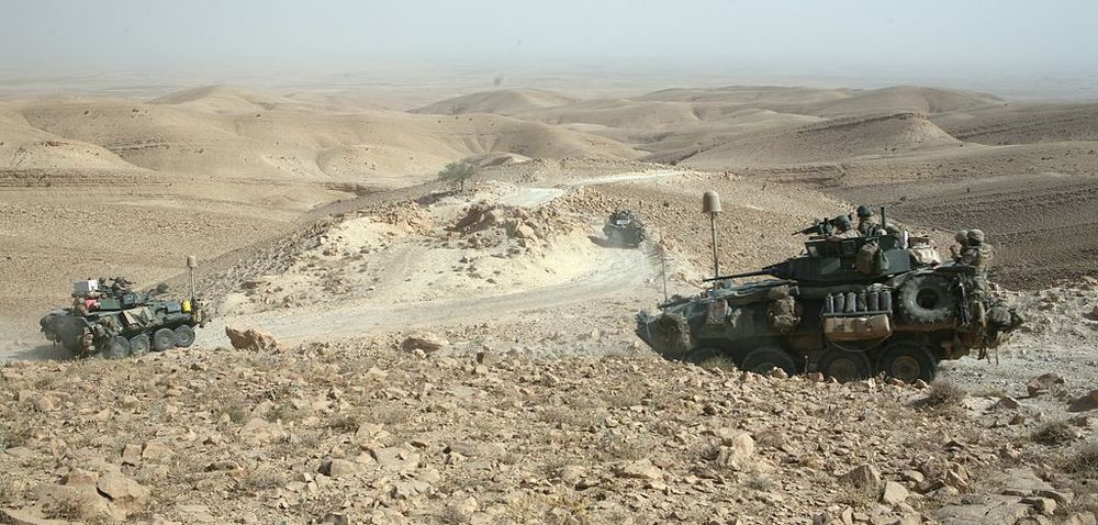 Click photo to download. Caption: In July 2009, Light-armored vehicles with U.S. Marine Corps' Task Force 3rd Light Armored Reconnaissance Battalion, Regimental Combat Team 8, traverse the rocky terrain of the Sinjar Mountains while deployed to the Nineveh province in Iraq. The persecuted Yazidis have historically used the Sinjar Mountains as a place of refuge and escape during periods of conflict. Credit: Sgt. Eric C. Schwartz via Wikimedia Commons.