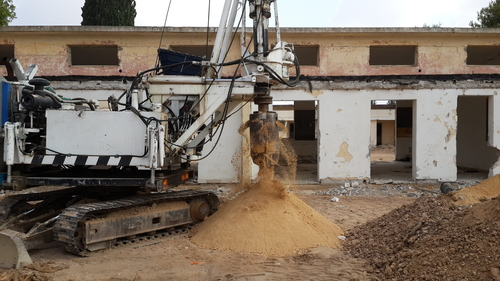 Click photo to download. Caption: The construction site of an abandoned elementary school in Sderot which Ayalim is using to build a student village. Credit: Provided photo.
