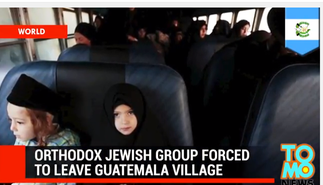 Members of Lev Tahor leavingSan Juan la Laguna in Guatemala. Credit: YouTube Screenshot.
