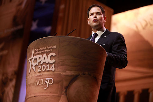 "Click photo to download. Caption: U.S. Sens. Bob Casey and Marco Rubio (pictured) wrote in a letter to Secretary of State John Kerry that the Islamic State's ""criminal activities—robbery, extortion, and trafficking—have helped the organization become the best-funded terrorist group in history."" The senators called on the Obama administration to target all aspects of Islamic State's operational funding and for the Treasury Department to classify Islamic State as a Transnational Criminal Organization (TCO). Credit: Gage Skidmore."