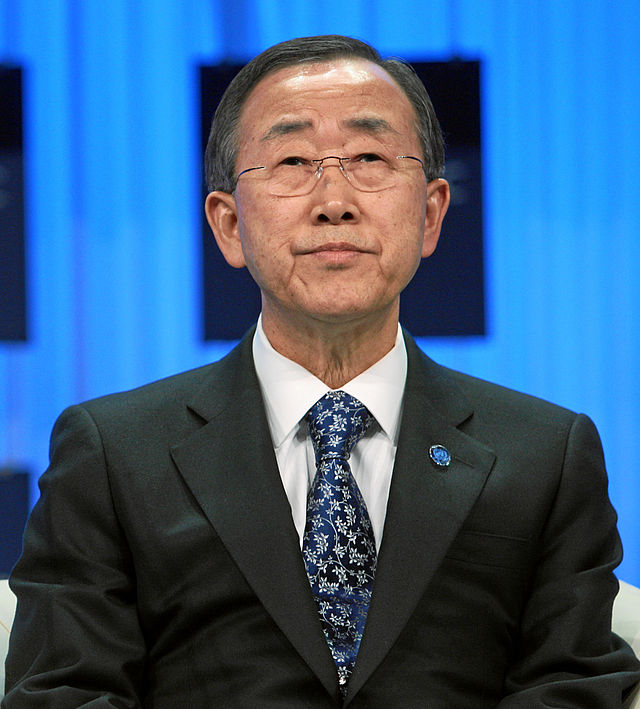 Ban Ki-moon. Credit: World Economic Forum.