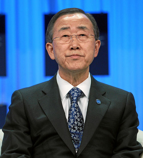 Ban Ki-moon. Credit: World Economic Forum.