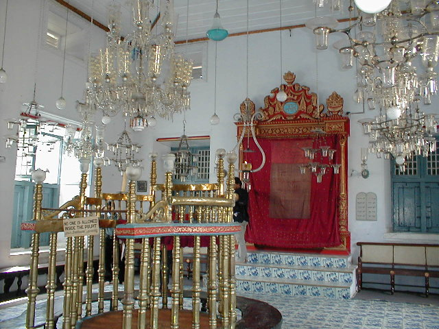The Paradesi Synagogue in Kochi, India. Credit: Jungpionier via Wikimedia Commons.