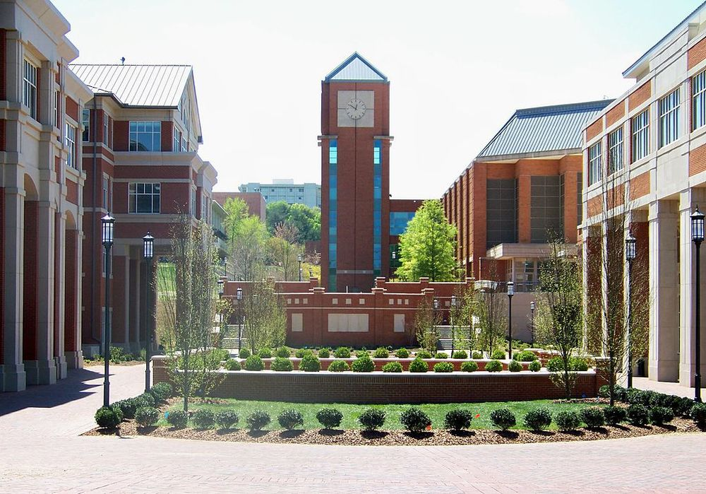 The University of North Carolina at Charlotte campus. Credit: Wikimedia Commons.