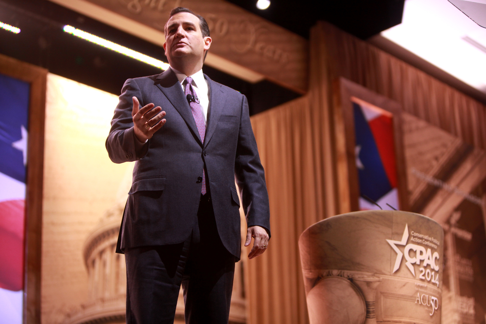 U.S. Sen. Ted Cruz (R-TX) speaks at the 2014 Conservative Political Action Conference (CPAC) in National Harbor, Maryland. Credit: Gage Skidmore via Wikimedia Commons.