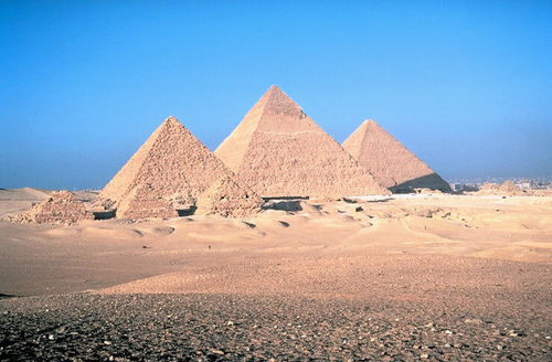 The Egyptian pyramids. Credit: Wikimedia Commons.