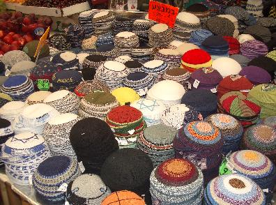 Studies show that European Jews will avoid wearing Jewish accessories such as the yarmulke in order to not be recognized as Jewish. Credit: Wikimedia Commons.