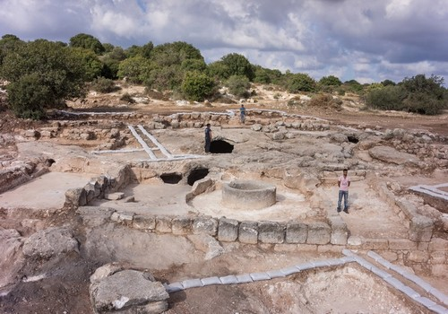 "The site of the Israel Antiquities Authority archaeological dig near Beit Shemesh that revealed an ""impressive"" monastery. Credit: Israel Antiquities Authority."