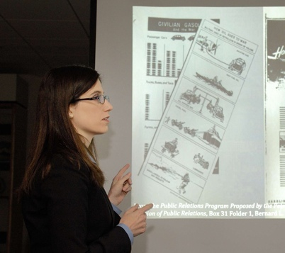 Click photo to download. Caption: Verity Educate Executive Director Dr. Ellen R. Wald makes a presentation. Wald's organization this month released a 152-page report addressing 300 specific points of inaccuracy and inconsistency in the Mideast curricula of the Newton, Mass., school district. Credit: Verity Educate.