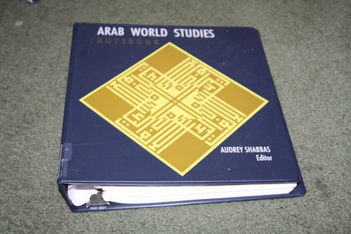 "Click photo to download. Caption: ""The Arab World Studies Notebook"" (AWSN), an anti-Israel text which has appeared in the public school curriculum of Newton, Mass. In its report on Newton's Mideast curriculum, the Verity Educate non-profit did not examine AWSN because the Newton school district said it removed the text. But the Boston-based advocacy group Americans for Peace and Tolerance has claimed that AWSN was still being used in Newton schools after officials said it had been removed. Credit: Amazon."