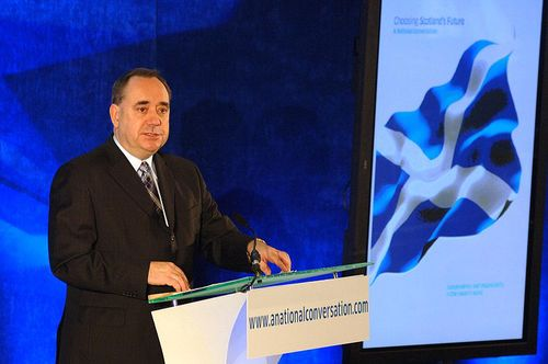 Click photo to download. Caption: Scottish First Minister and nationalist leader and Alex Salmond (pictured) resigned after Scottish independence from the U.K. was rejected, 55-45 percent, in referendum results revealed Friday. Credit: Harris Morgan via Wikimedia Commons.