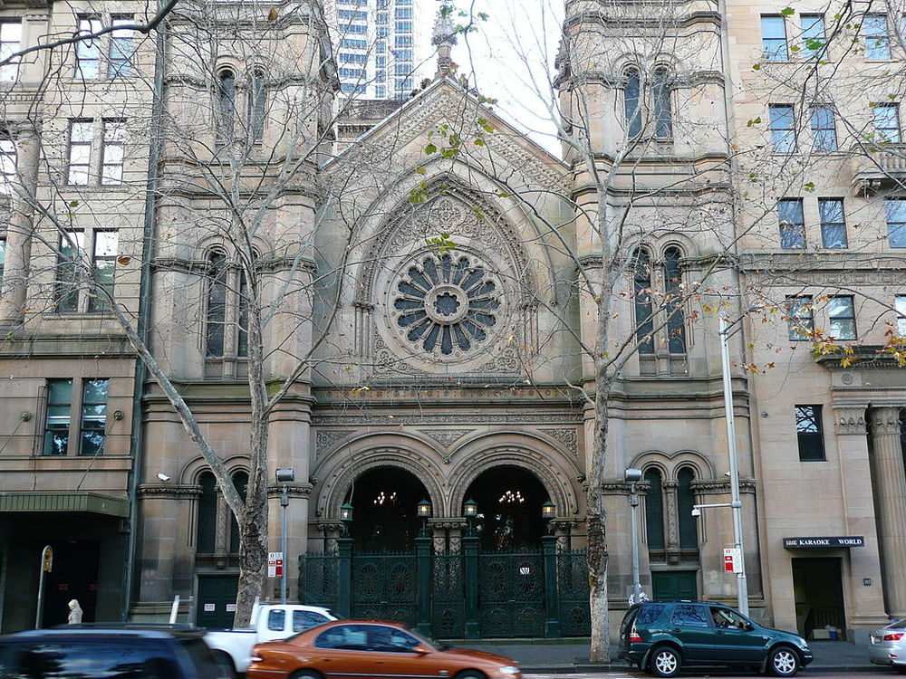 The Great Synagogue, Elizabeth Street, Sydney, Australia. Australian Jews have launched an action plan to combat anti-Semitism in the country. Credit: Wikimedia Commons.