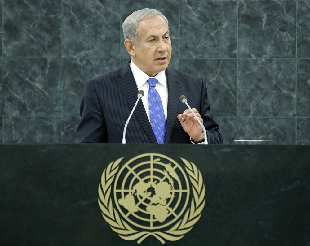 Israeli Prime Minister Benjamin Netanyahu addresses the U.N. General Assembly in 2013. Credit: UN Photo/Evan Schneider.
