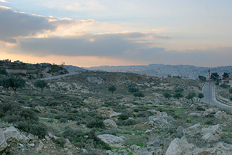 A view of Givat Hamatos in Jerusalem. Credit: Shalom Yechiel.
